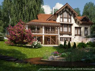 Мастерская ландшафта Дмитрия Бородавкина Casas estilo moderno: ideas, arquitectura e imágenes Madera