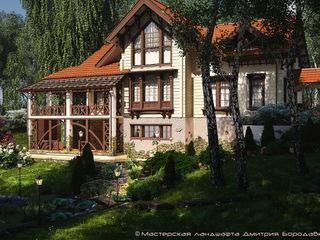 Мастерская ландшафта Дмитрия Бородавкина Casas estilo moderno: ideas, arquitectura e imágenes