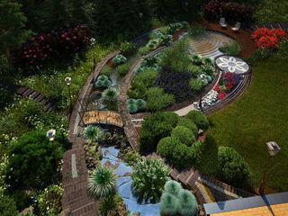 Мастерская ландшафта Дмитрия Бородавкина Jardines de estilo moderno