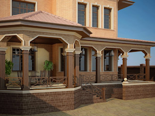 Оформление патио и входной группы Студия авторского дизайна БОН ТОН Балконы и веранды в эклектичном стиле
