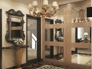 Проект квартиры в Краснодаре в стиле Эклектика Студия авторского дизайна БОН ТОН Коридор, прихожая и лестница в эклектичном стиле
