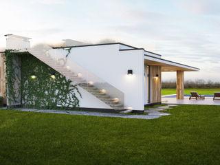 IK-architects Maisons minimalistes Blanc