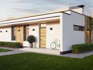 IK-architects Maisons minimalistes Bois Blanc