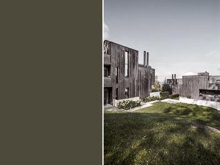 meier architekten zürich Modern houses Copper/Bronze/Brass Metallic/Silver