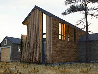 IK-architects Maisons minimalistes Bois Marron