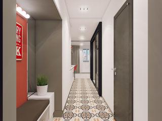 Volkovs studio Pasillos, vestíbulos y escaleras de estilo escandinavo