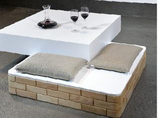 Blocco Arreda 客廳邊桌與托盤 木頭