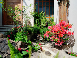 Residencia RH Excelencia en Diseño Jardines asiáticos Derivados de madera Blanco