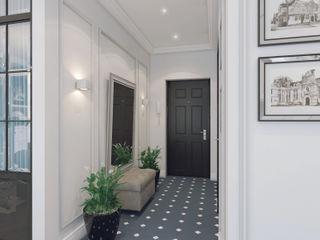 Volkovs studio Pasillos, vestíbulos y escaleras de estilo clásico