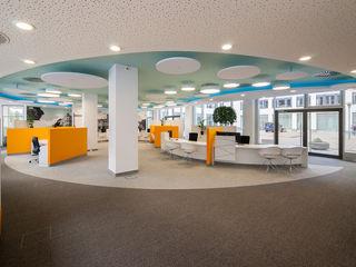 arc architekturconzept GmbH 辦公空間與店舖 Orange