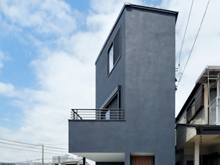 向山建築設計事務所 Modern houses Black