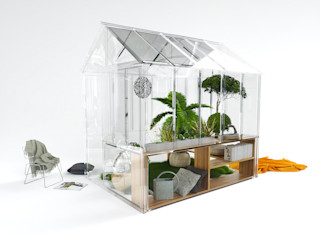 The invisible small greenhouse Nantes Frédéric TABARY GiardinoGazebi & Serre Plastica Variopinto
