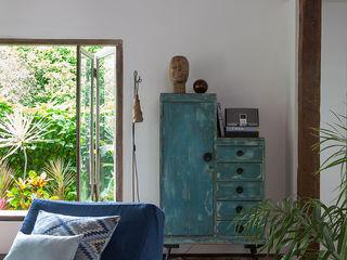 Vida de Vila Salon rustique Bois massif Bleu