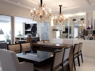 Maluf & Ferraz interiores Modern Dining Room White