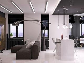QUADRUM STUDIO Salas de estilo minimalista