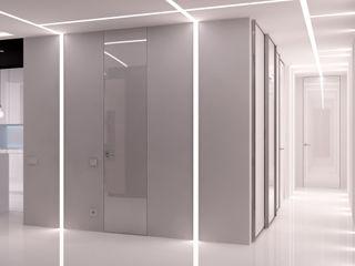 QUADRUM STUDIO Pasillos, vestíbulos y escaleras de estilo minimalista