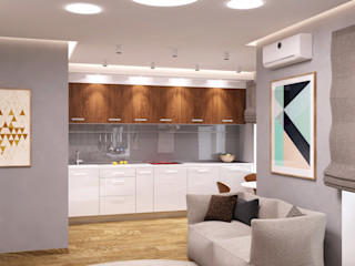 QUADRUM STUDIO Cocinas de estilo minimalista