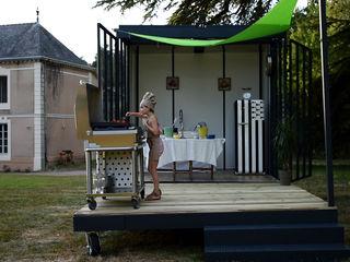 Un CUBE cuisine.. Un CUBE dans mon jardin CuisinePlans de travail Métal Multicolore