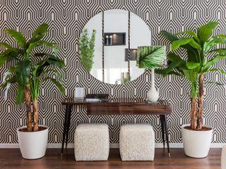 HALL Movelvivo Interiores Couloir, entrée, escaliersAccessoires & décorations Effet bois