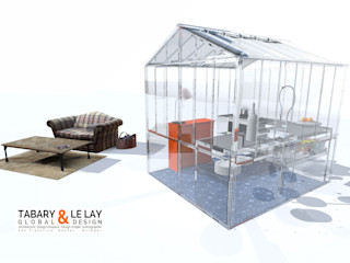 The invisible small greenhouse Nantes Frédéric TABARY КухняСтільниці Синтетичні Прозорий