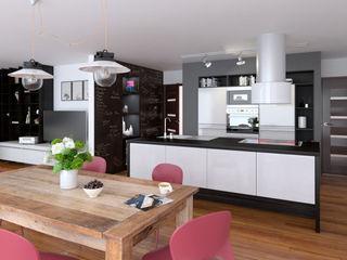 Une cuisine ouverte sur un living Architecture du bain CuisinePlans de travail