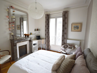 Chambre romantique et design - appartement haussmannien Parisdinterieur