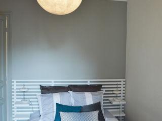 Chambre gris/bleu - appartement parisien Parisdinterieur