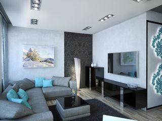 Insight Vision GmbH Salas de estilo moderno Turquesa