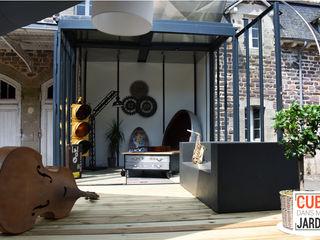 Un CUBE loft Un CUBE dans mon jardin SalonAccessoires & décorations Bois Multicolore