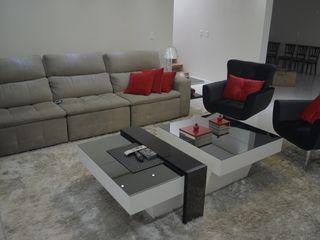Ésse Arquitetura e Interiores Living roomTV stands & cabinets