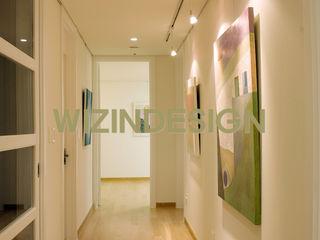 wizingallery Nowoczesny korytarz, przedpokój i schody