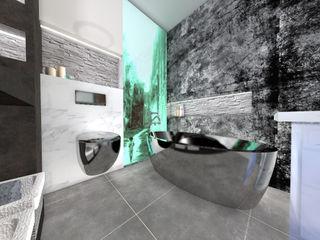 Nowa Droga W Standardach Baños de estilo moderno Gris