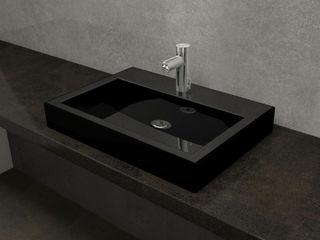 Nowa Droga W Standardach Baños de estilo moderno Cerámica Negro