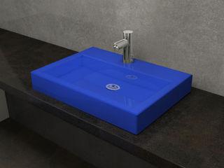 Nowa Droga W Standardach Baños de estilo moderno Cerámica Azul