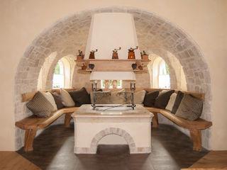 RI-NOVO Rustic style living room Wood