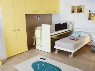 NIDI MOOVING: idee salvaspazio room #3 Nidi Camera da lettoArmadi & Cassettiere Giallo