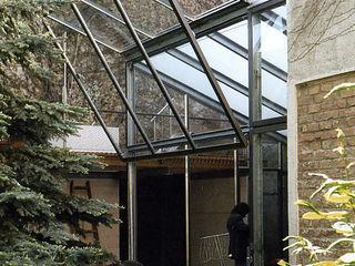 glashaus - wintergarten allmermacke Industrialer Wintergarten Eisen/Stahl Metallic/Silber