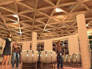 Cantina in Umbria - Winery in Umbria Planet G Negozi & Locali commerciali in stile rustico