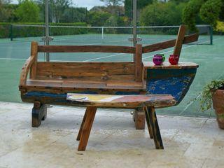 Outdoor Furniture - Reclaimed Javanese Fishing Boats BluBambu Living Сад Мебель Дерево