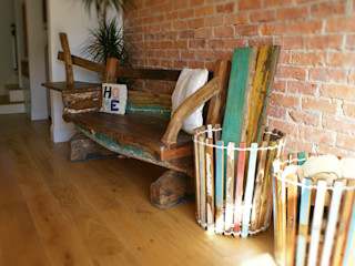 Outdoor Furniture - Reclaimed Javanese Fishing Boats BluBambu Living Прихожая, коридор и лестницыМягкая мебель