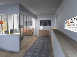 L'Invisible Verrière / invisible glass Frédéric TABARY Коридор, коридор і сходиОсвітлення Пластик Прозорий
