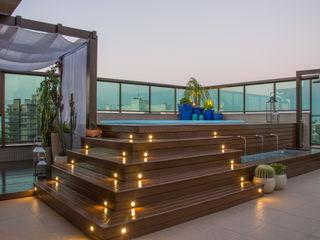 Michele Moncks Arquitetura Balcon, Veranda & Terrasse tropicaux