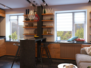 GP-ARCH Industrial style kitchen