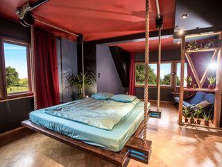 Hanging beds DormitoriosCamas y cabeceros Madera Marrón