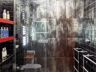 Briarwood Road Granit Architects Industrial style bathroom