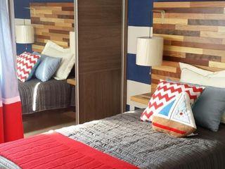 Paola Hernandez Studio Comfort Design Спальня в стиле модерн