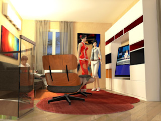 Abitazione in Toscana - Interiors in Tuscany Planet G Sala multimediale moderna