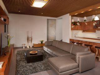 LGZ Taller de arquitectura Soggiorno moderno Tessuti Grigio