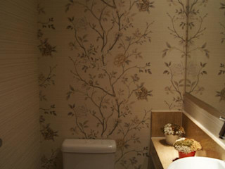 ProArq Brasil Klassische Badezimmer Papier Beige