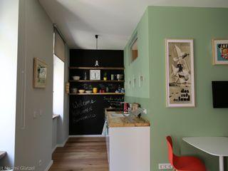 Birgit Glatzel Architektin Industrial style kitchen Green